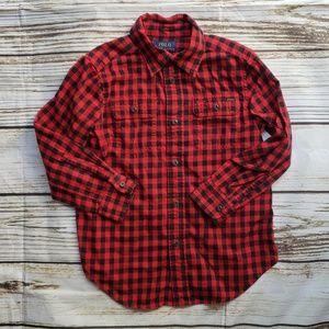 Ralph Lauren Polo 5 red black shirt